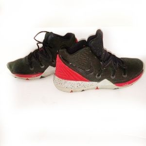 Nike Kyrie 5 red black and gray basketball…
